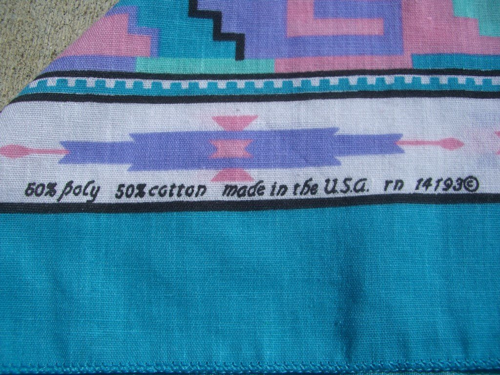 90s pink and blue southwestern bandanna materials