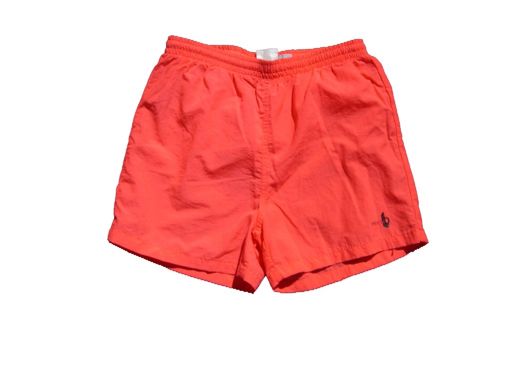 Neon Salmon Colored Sasson Shorts with Netting