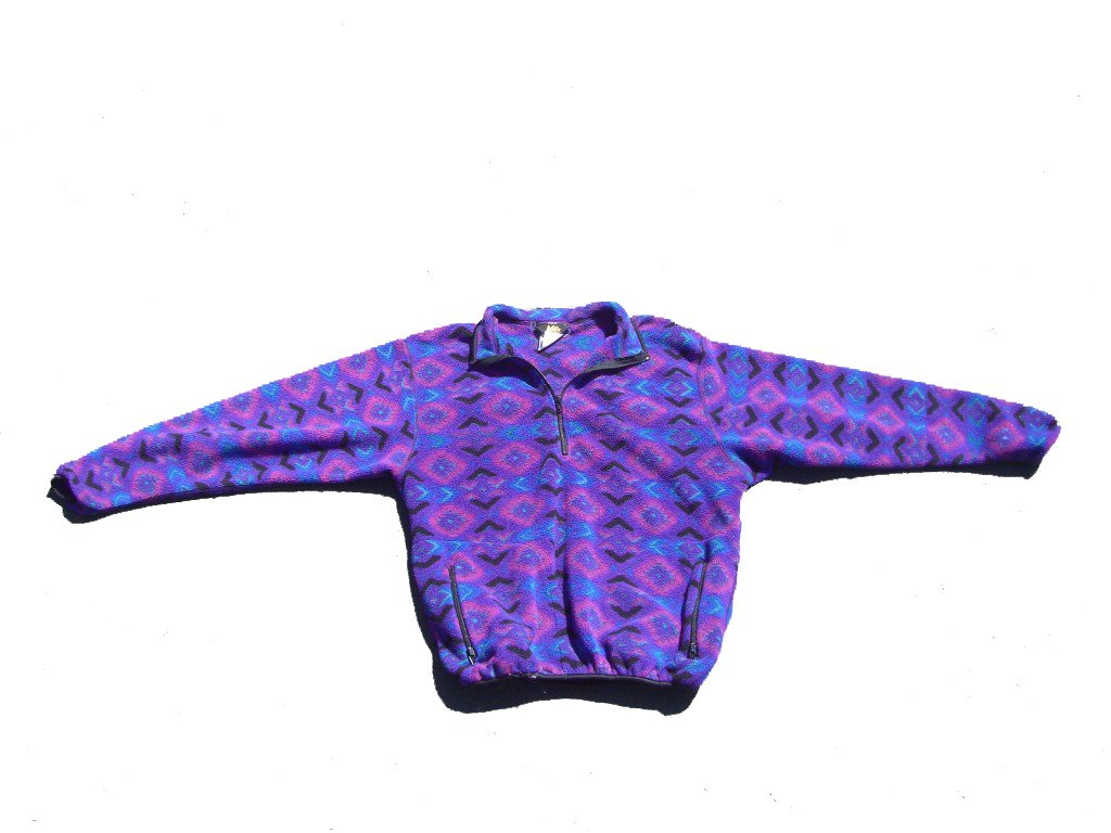Purple-Geometric-REI-Quarter-Zip-Fleece