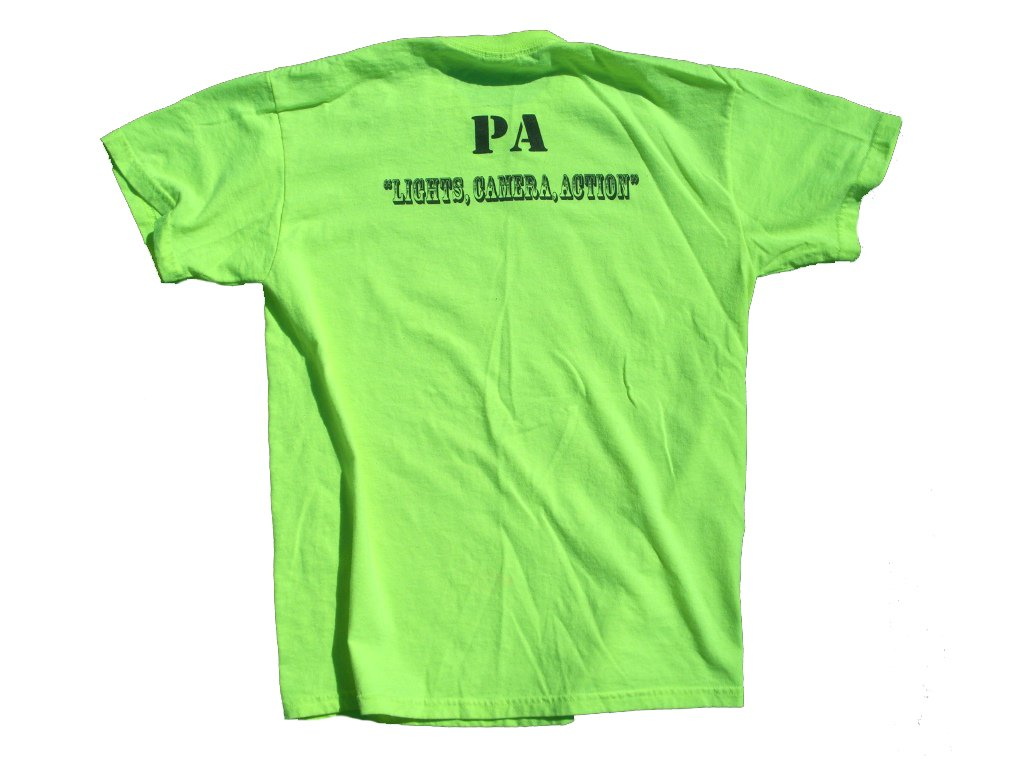 Neon Yellow Mountaindale North T-Shirt Backside
