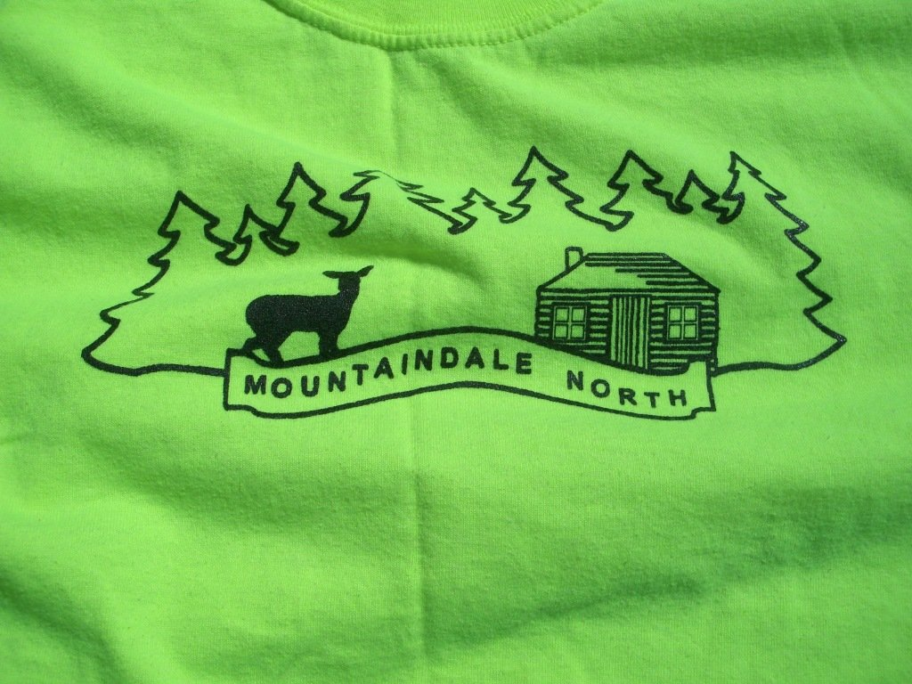 Neon Yellow Mountaindale North T-Shirt Front