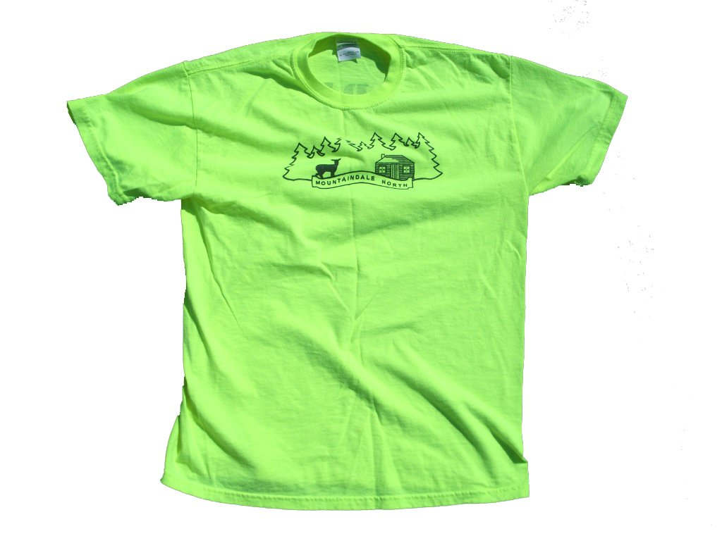 Neon Yellow Mountaindale North T-Shirt