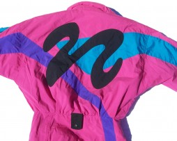 90s Neon Pink Tyrolia By Head Ski Suit Back