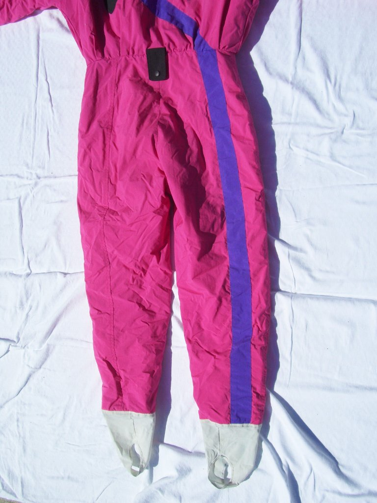 90s Neon Pink Tyrolia By Head Ski Suit Legs