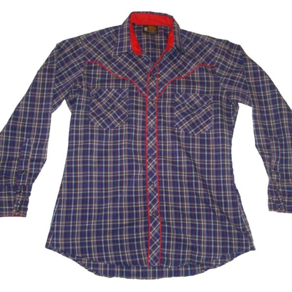 Kenny Rogers Western Collection By Karman Plaid Snap Button Shirt
