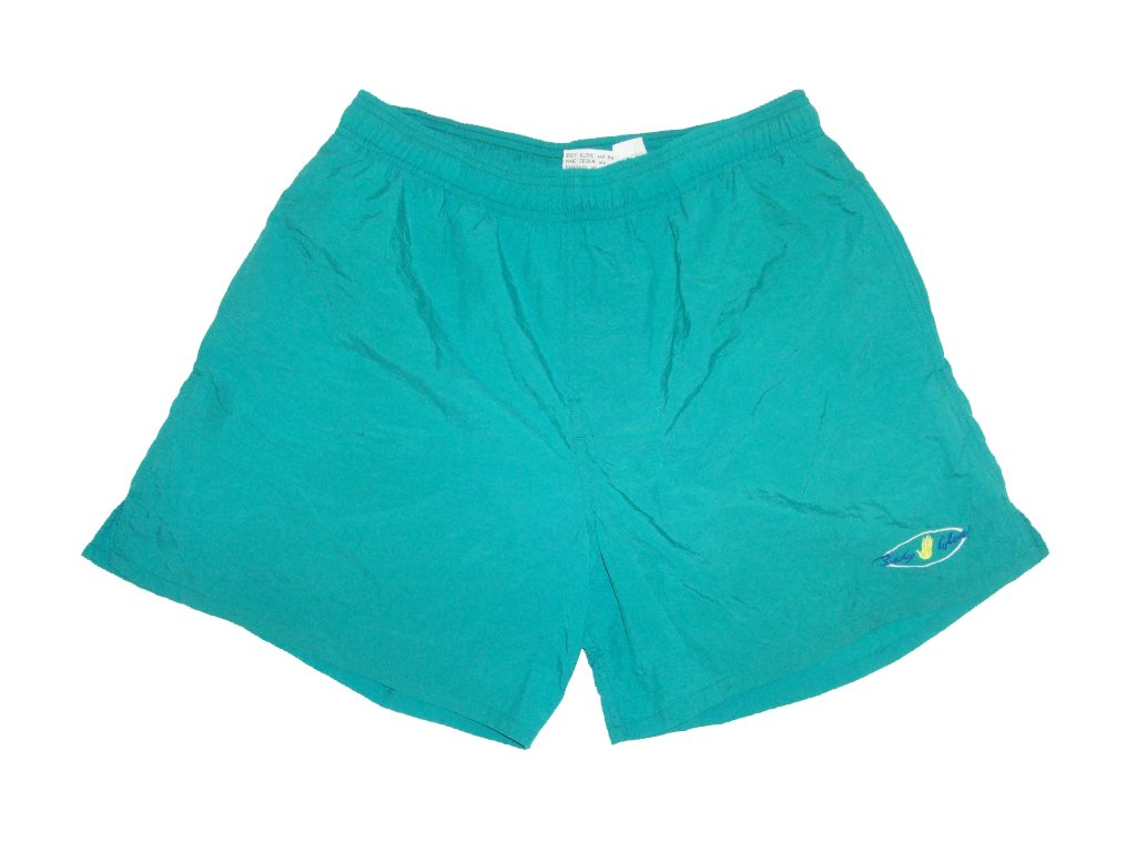 vintage-90s-green-body-glove-shorts