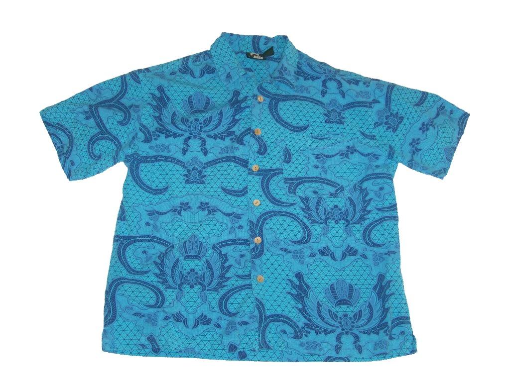 Blue 80s Vintage Metro One Hawaiian Shirt