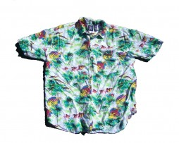 GAP Neon Fish Hawaiian Shirt