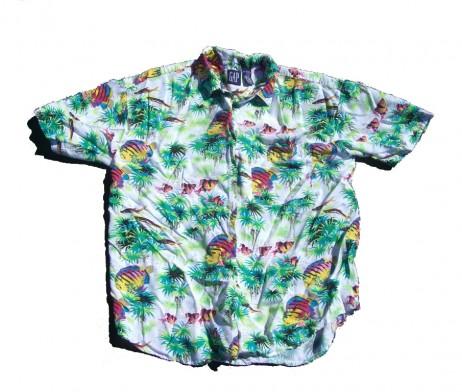 GAP Neon Fish Hawaiian Shirt