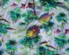 GAP Neon Fish Hawaiian Shirt Back Pattern