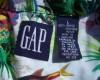 GAP Neon Fish Hawaiian Shirt Tag