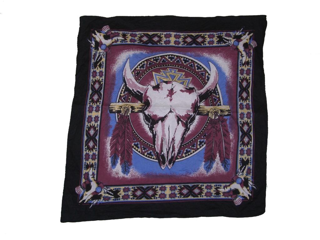 southwestern-cow-bull-skull-bandana