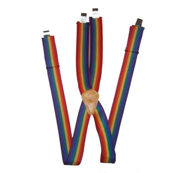 Custom Leather Craft Rainbow Suspenders