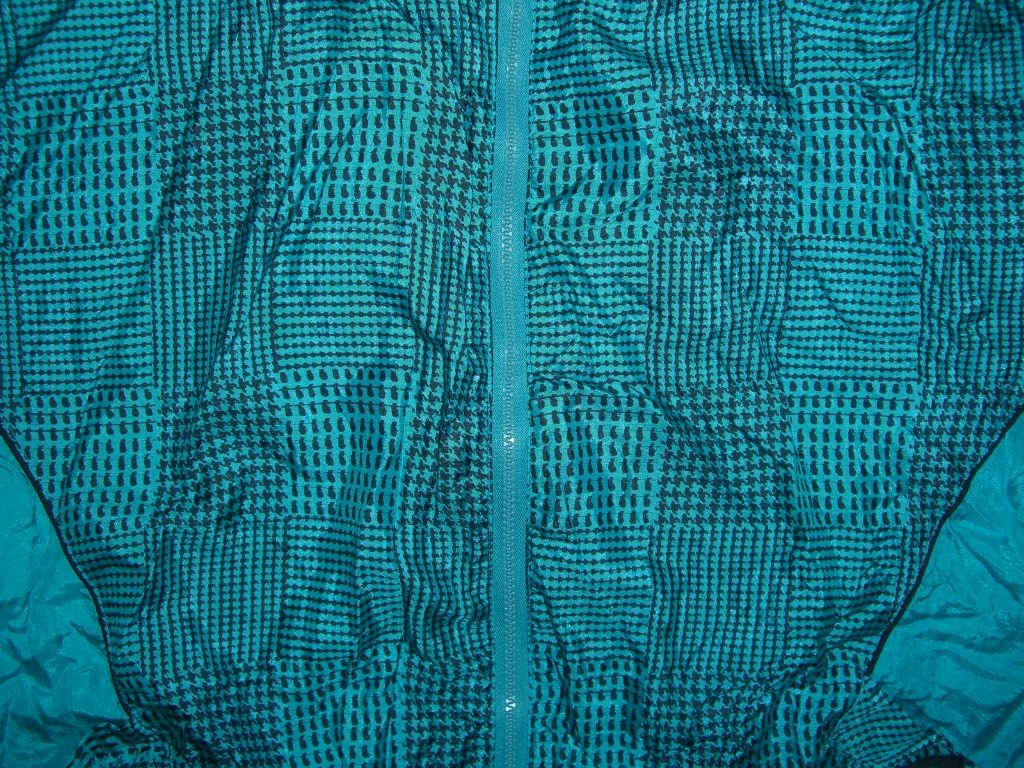 90s Teal Checkered Plaid Aviat Sportif Windbreaker pattern
