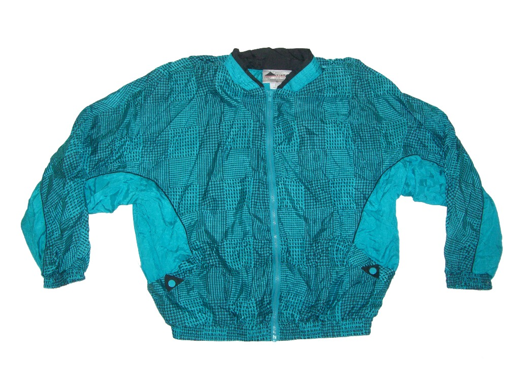 90s-teal-checkered-plaid-aviat-sportif-windbreaker
