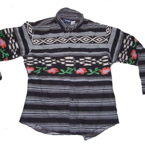 Digital Roses Pixelated Wrangler Western Cowboy Shirt