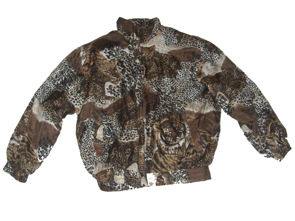Safari Animal Print Windbreaker With Lions And Cheetahs Front