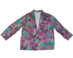 Vintage Joanna Purple And Green Floral Blazer