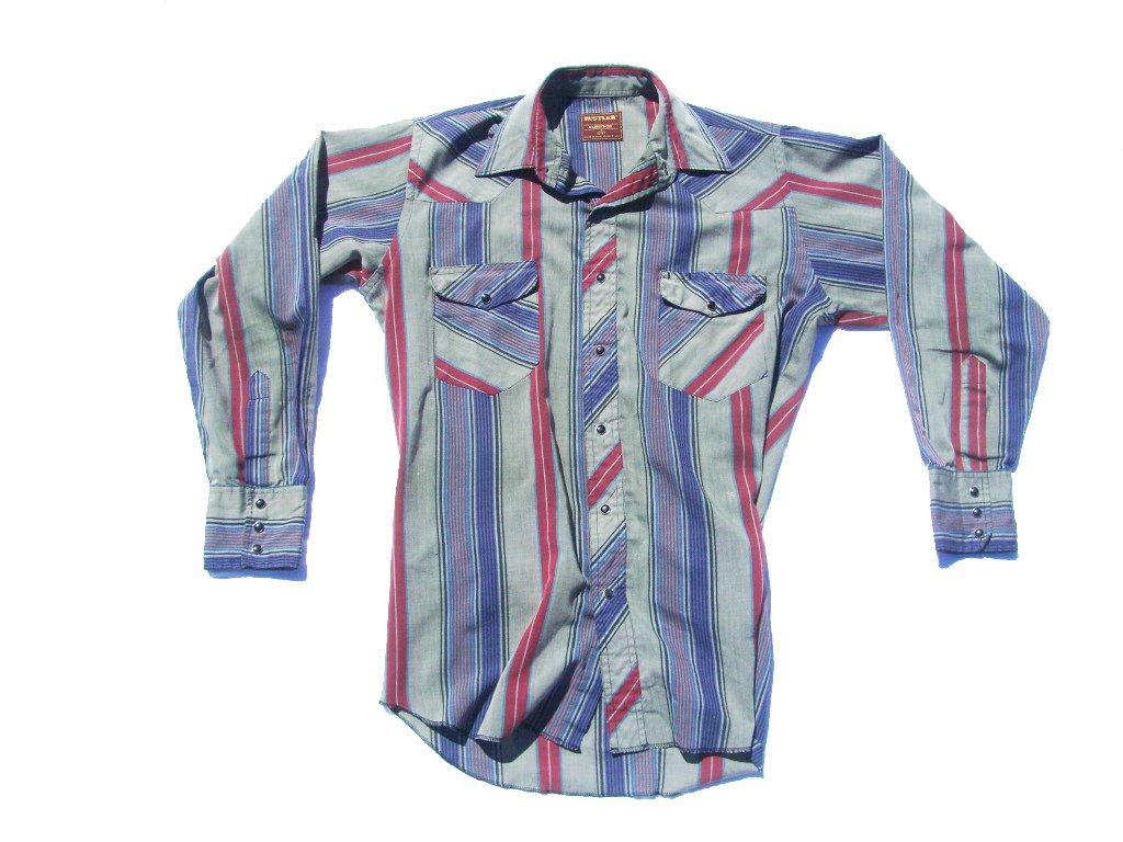 9e3ce22c 70s Vintage Wrangler Rustler Snap Button Western Shirt | 90s Vintage